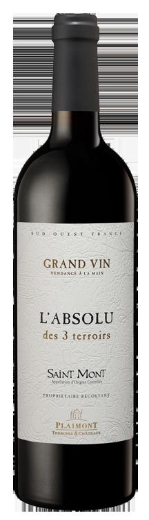 Vin Saint Mont L'absolu des 3 terroirs rouge 75 cl