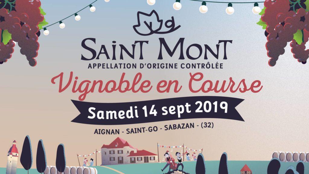 Saint Mont Vignoble en Course affiche