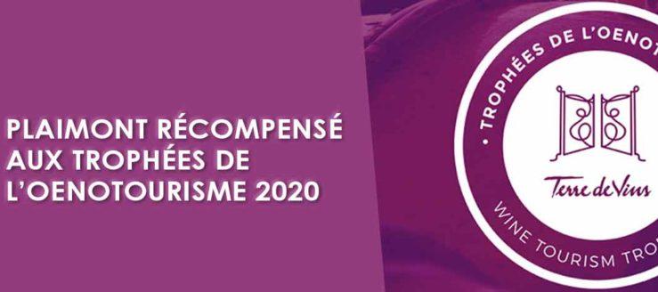 Plaimont récompensé aux Trophées de l'Oenotourisme 2020