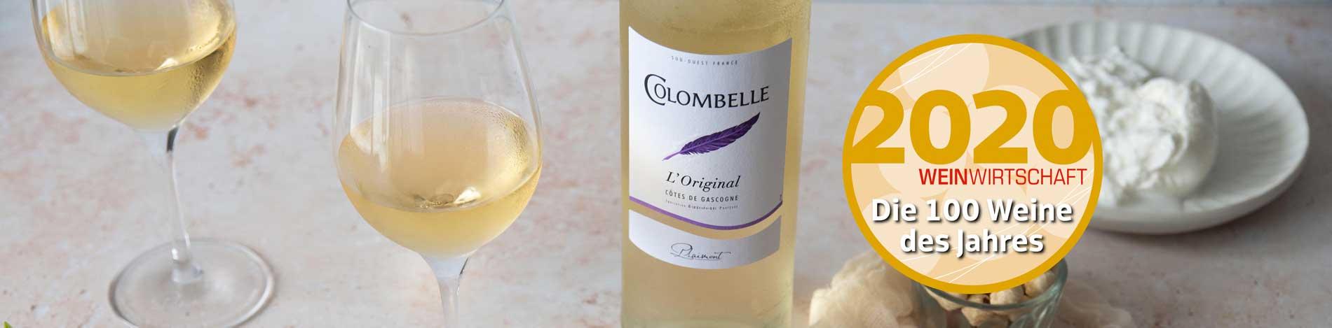 Colombelle L'Original 2019, meilleur vin blanc français 2020 d'après Weinwirtschaft