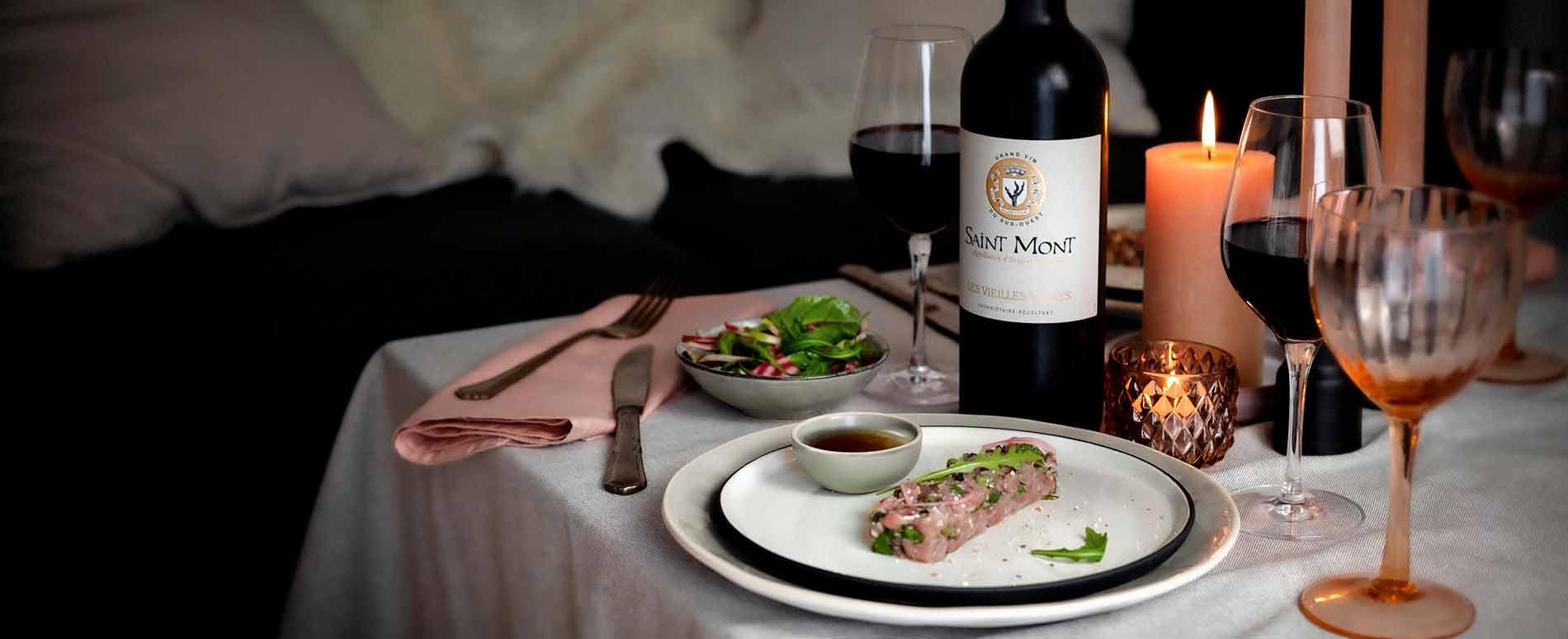 Recette Tartare de canard en accord avec un vin rouge