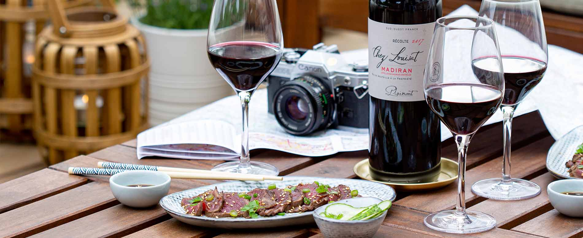 Recette tataki de boeuf - Accords mets et vin
