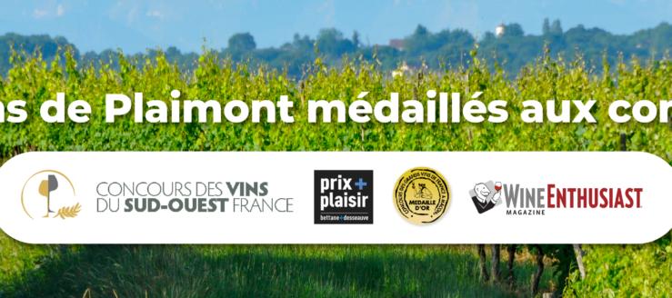 Les médailles et récompenses 2021 de Plaimont