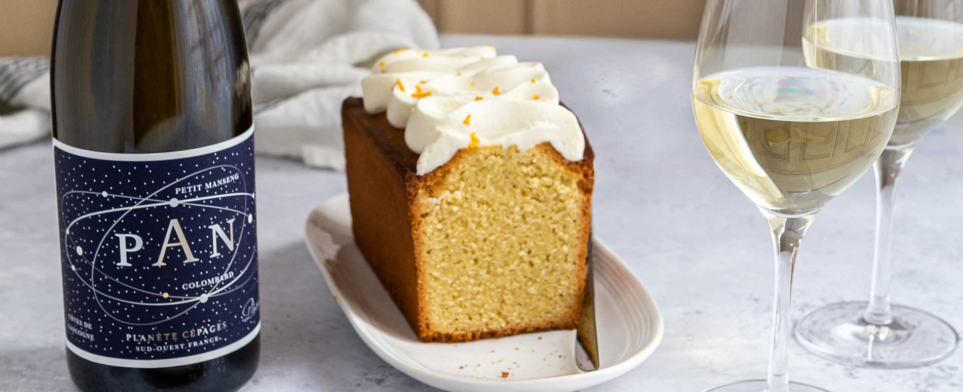 Recette de gâteau en accord avec un vin blanc